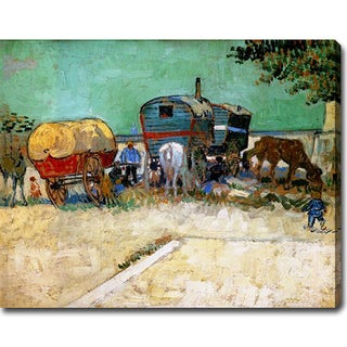 Vincent van Gogh 'The Caravans - Gypsy Camp near Arles' Oil on Canvas Art