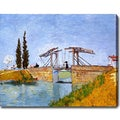 Vincent van Gogh 'The Langlois Bridge at Arles' Oil on Canvas Art