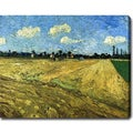 Vincent van Gogh 'The Ploughed Field' Oil on Canvas Art