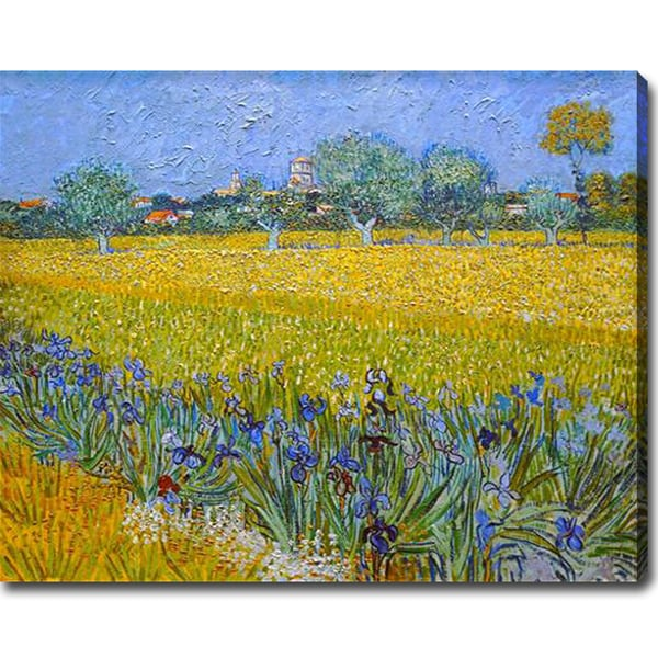 Vincent van Gogh 'Field with Flowers Near Arles' Oil on Canvas Art