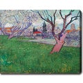 Vincent van Gogh 'View of Arles with Trees in Blossom' Oil on Canvas Art