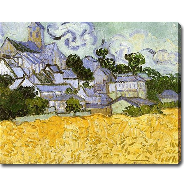 Vincent van Gogh 'View of Auvers with Church' Oil on Canvas Art