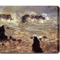Claude Monet 'The Wild Sea' Oil on Canvas Art