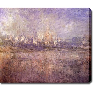 Claude Monet 'Vetheuil in the Fog' Oil on Canvas Art