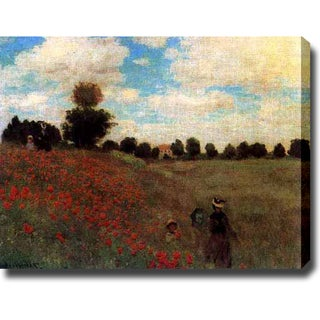 Claude Monet 'Poppies' Oil on Canvas Art