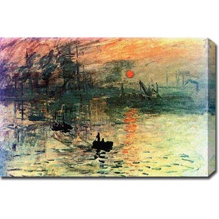 Claude Monet 'Impression Sunrise' Oil on Canvas Art
