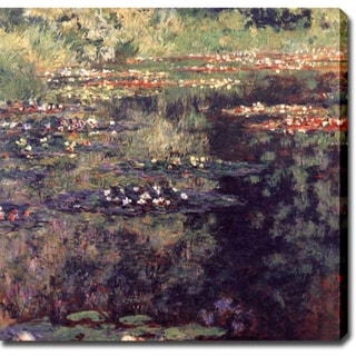 Claude Monet 'Water Lilies II' Oil on Canvas Art