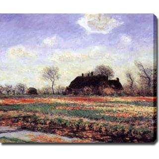 Claude Monet 'Tulip Fields at Sasenheim' Oil on Canvas Art