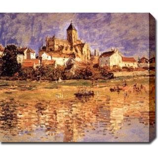 Claude Monet 'The Church at Vetheuil' Oil on Canvas Art