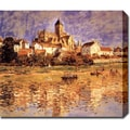 Claude Monet 'The Church at Vetheuil' Oil on Canvas Art