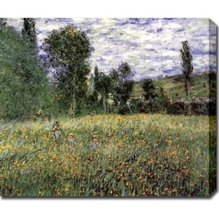Claude Monet 'Meadow' Oil on Canvas Art