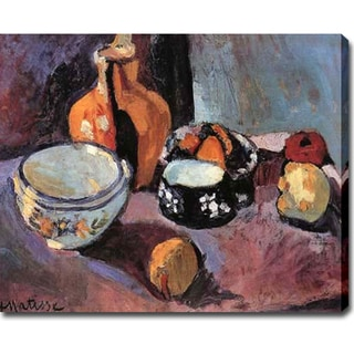 'Still Life with Vases and Fruits' Oil on Canvas Art