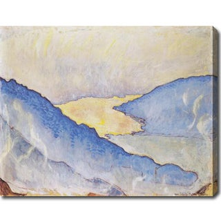 Ferdinand Hodler 'Evening Fog on Lake Thun' Oil on Canvas Art