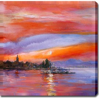 'Red Sky' Oil on Canvas Art