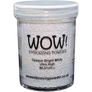WOW! Embossing Powder Large Jar 160ml-Opaque Bright White Ultra High