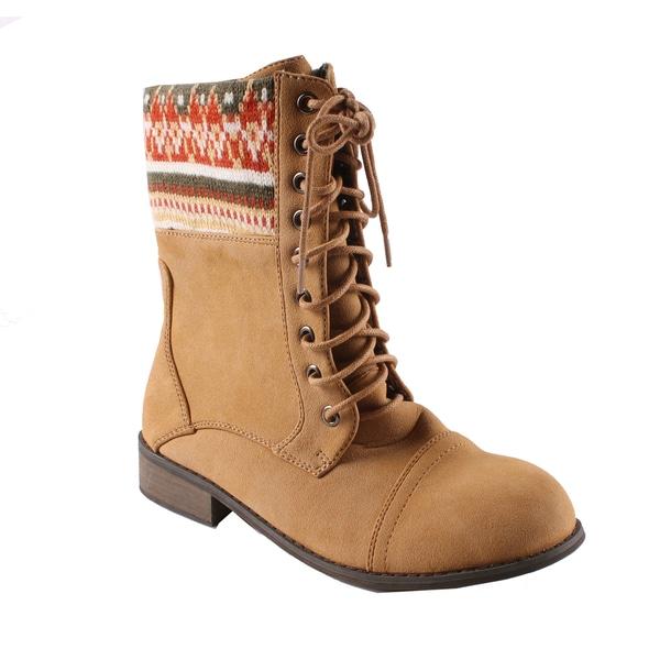 Machi by Beston Women's 'Jimmy' Combat Boots