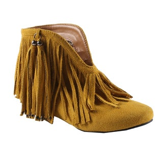 Machi by Beston Women's 'Fantasy' Mustard Ankle Booties