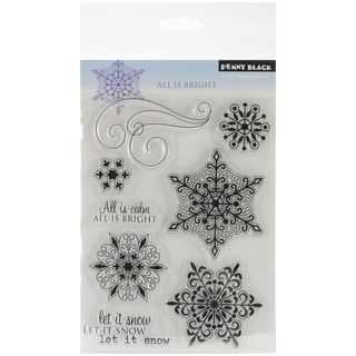 "Penny Black Clear Stamps 5""X7.5"" Sheet-All Is Bright"