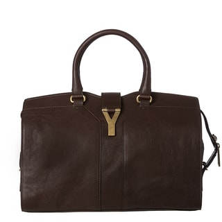 Yves Saint Laurent 'Cabas ChYc' Brown Leather Tote Bag