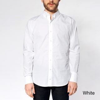 American Apparel Men's Italian Cotton Long Sleeve Button-down Shirt
