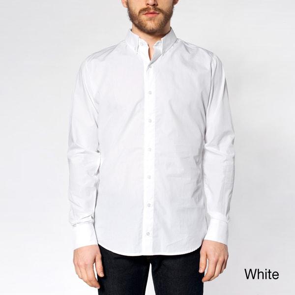 American Apparel Men's Italian Cotton Long Sleeve Button-down Shirt