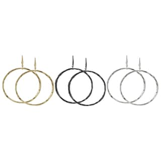 Journee Collection Plated 70-mm Hoop Dangle Earrings