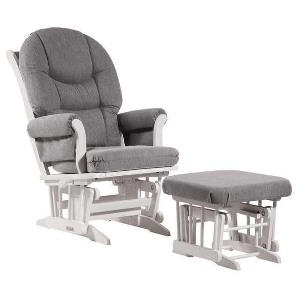 Dutailier Ultramotion Dark Grey Multiposition, Reclining Sleigh Glider and Ottoman Set