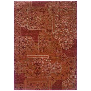 Millennium Scrollwork Mahogany Area Rug (9' x 12'2)