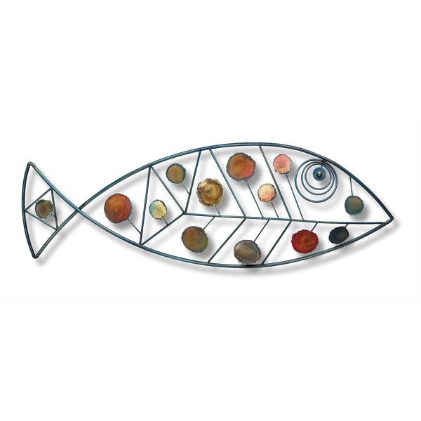 Iron Werks Dappled Fish Wall Sculpture