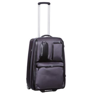 Piquadro Designer 24-inch Medium Expandable Upright Suitcase
