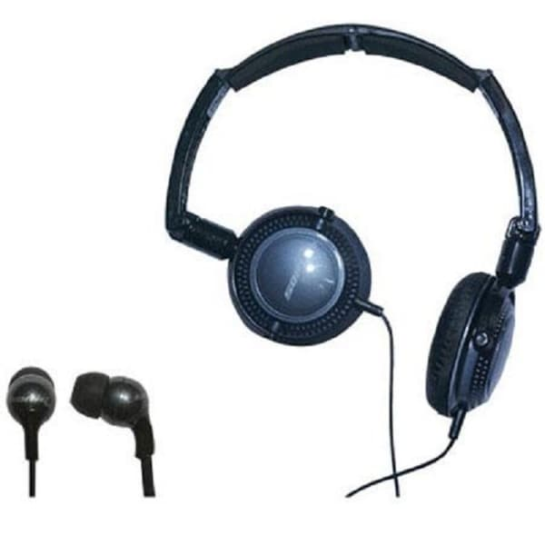 Soniq KABOOM! Headphone/Earphone Black Combo Pack