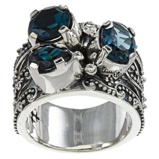 Madison Sterling Silver Three Stone Ring