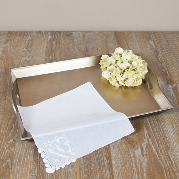 Saro 'Happy Thanksgiving' Handkerchiefs (12)