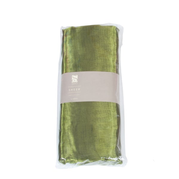 Saro Green Organza Fabric (5 yards/ Bundle)