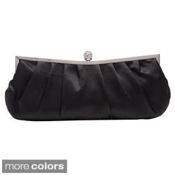 J. Furmani Metallic Pleated Clutch