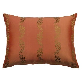 Rose Tree Crimson Garden Shimmer Decorative Pillow
