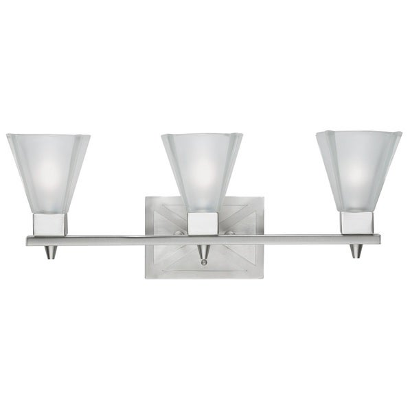 Contemporary 3 light Bath/Vanity in Brushed Nickel