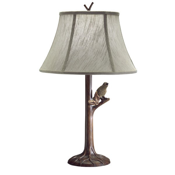 Transitional Tree Bark 1-light Table Lamp