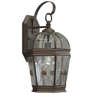 Transitional Olde Bronze 1-light Outdoor Wall Fixture