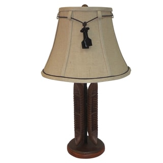 Aztec Lighting Faux Wood Table Lamp