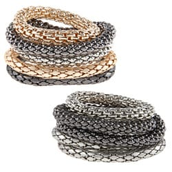KC Signatures Two-tone 5-piece Stacked Bangle Set