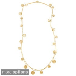 KC Signatures Goldplated Coin Double Loop Extra Long Necklace
