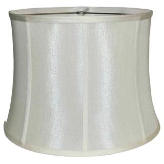 Ribbed Drum White Silk Shade