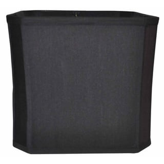 Black Cut Square Corner Fabric Shade