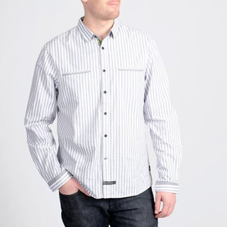English Laundry by Christopher Wicks Men's 'The Aylesbury' Grey Stripe Shirt
