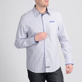 English Laundry by Christopher Wicks Men's 'The Kingston' Grey Stripe Shirt