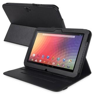 BasAcc Black Leather Swivel Case for Google Nexus 10