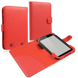 BasAcc Red Leather Case for Barnes & Noble Nook HD