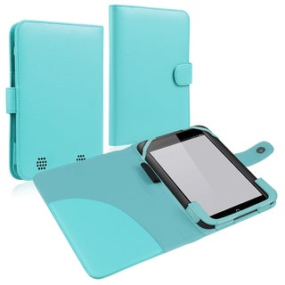 INSTEN Light Blue Leather Phone Case Cover for Barnes & Noble Nook HD