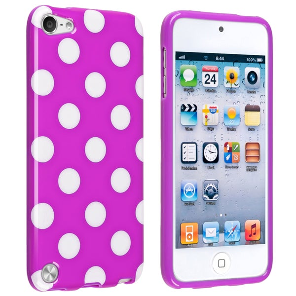 BasAcc Purple/ White IMD TPU Case for Apple iPod Touch Generation 5
